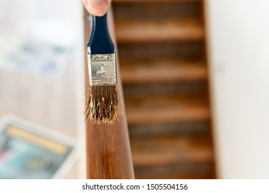 The brush is the railing made of wood underline. Renovation work is self-made