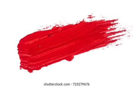 brush stroke isolated on white background