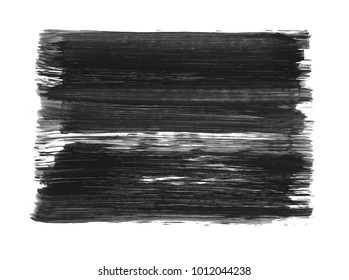 Brush stroke and texture. Smear brush on a white background.