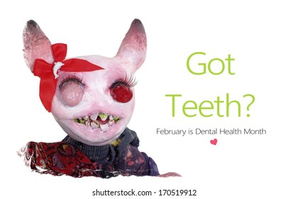 Brush Your Teeth February is Dental Health Month