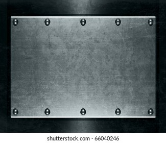 Brushed aluminum metallic plate for backgrounds