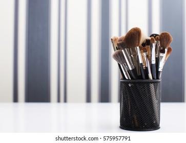 Brushed makeup