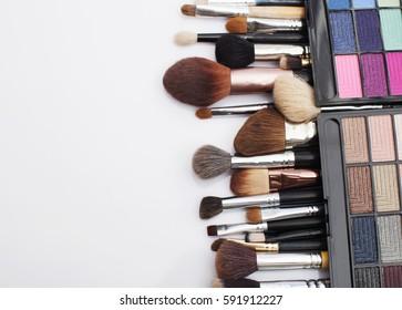 Brushed and makeup