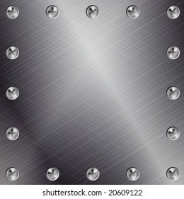 Brushed Metal Background with Screws