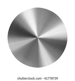 brushed metal disc