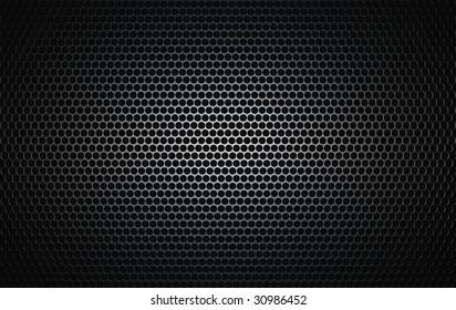 brushed metal grille as seen on speakers
