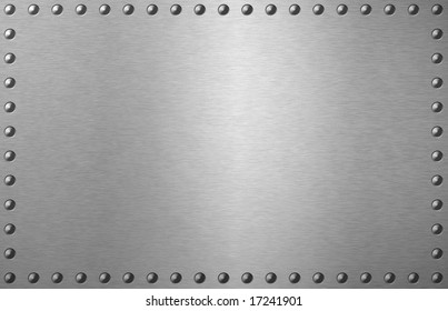 brushed metal plate with spikes on the edges