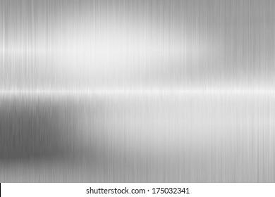 brushed metal structure closeup