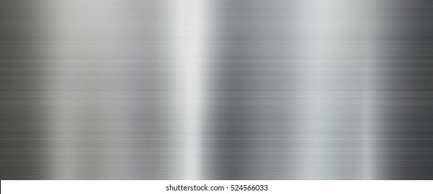 Brushed Metal texture background in silver