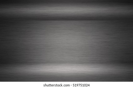 Brushed metal texture, gray neutral background, blank surface