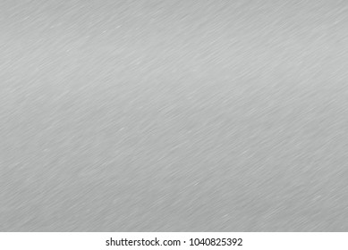 Brushed metal texture. Polished metal texture background with light reflection.