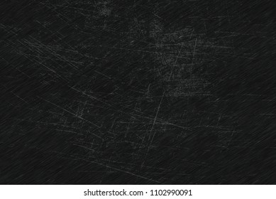 Brushed scratched dark metal texture. Polished metal texture background with light reflection.