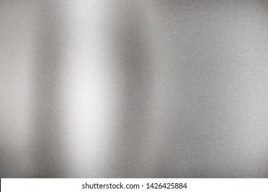 Brushed silver wave metal plate, abstract texture background