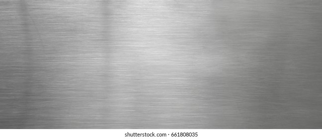 Brushed steel plate background texture horizontal
