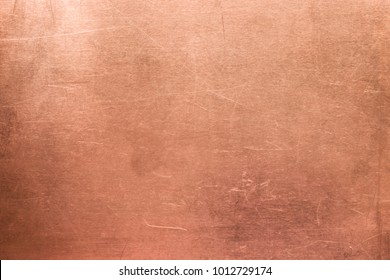 Brushed surface of brass, old plate of copper texture