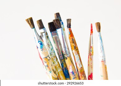 Brushes and art supplies