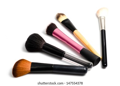 brushes for make-up isolated on white
