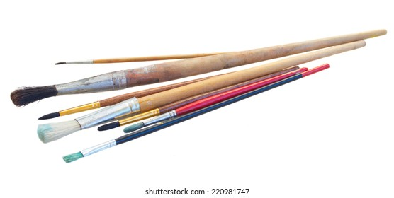 brushes for painting isolated on white background