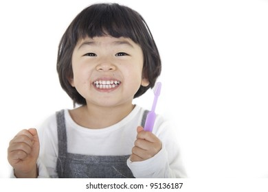 brushes teeth
