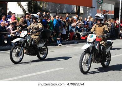 Brusque, Brazil - September 07, 2016 - Brazil 's independence parade