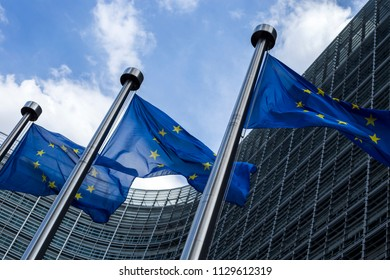 Brussels / Belgium - 07 04 2018: Photos around European Commission.