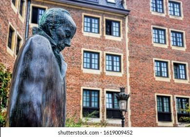Brussels, Belgium - 10/06/2015 - statue of Bela Bartok