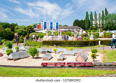BRUSSELS, BELGIUM - 13 MAY 2016: Miniatures at the park Mini-Europe - reproductions of monuments in the European Union at a scale of 1:25. Netherlands.