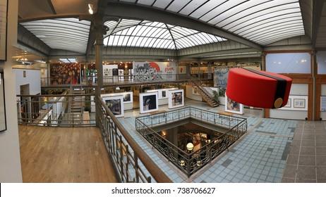 BRUSSELS, BELGIUM. 18 DECEMBER, 2013: Belgian Comic Strip Center in Brussels. Art Nouveau style building designed by Victor Horta.