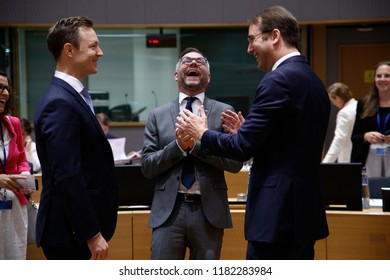 Brussels, Belgium. 18th September 2018. German State Minister for Europe Michael Roth attends in the General Affairs Council meeting at the European Council