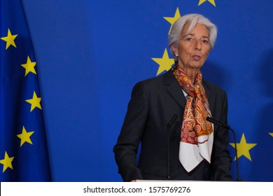 Brussels, Belgium. 1st December 2019.     President of the European Central Bank (ECB) Christine Lagarde attends in celebration of the 10th anniversary of the Lisbon Treaty.