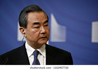 Brussels, Belgium. 1st June, 2018. Chinese Minister of Foreign Affairs  WANG Yi and  EU Commissioner Federica MOGHERINI hold a press conference on EU-China High-Level Strategic Dialogue