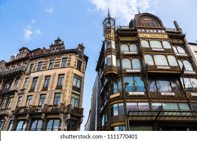 BRUSSELS, BELGIUM - 20 AUGUST 2017: The Musical Instruments Museum (MIM) is a music museum in central Brussels, Belgium.
