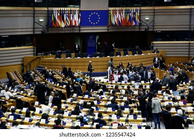 Brussels, Belgium. 20th Nov. 2018. Plenary room of the European Parliament during the 70th anniversary of the Universal declaration of human right's conference.
