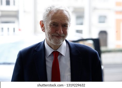 Brussels, Belgium. 21st February 2019. Visit of Jeremy Corbyn, Leader of the British Labour Party and Leader of the British Opposition, to the European Commission.