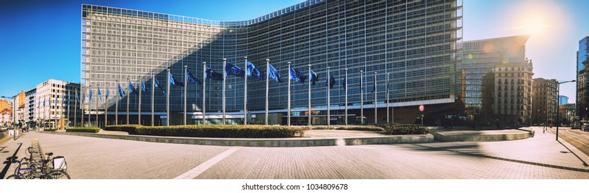 BRUSSELS, BELGIUM - 25 FEBRUARY 2018: European Commission Headquarters building - Berlaymont