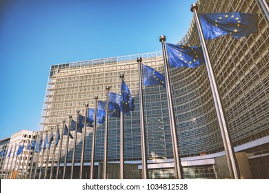 BRUSSELS, BELGIUM - 25 FEBRUARY 2018: European Commission Headquarters - Berlaymont building