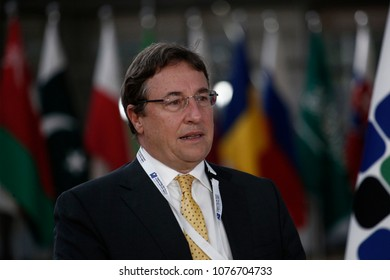 Brussels, Belgium. 25th April 2018. Achim STEINER, Administrator UN Development Programme (UNDP)