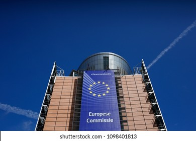 Brussels, Belgium. 25th May, 2018 .European Commission headquarters.