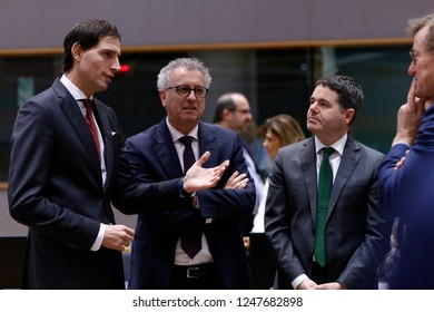 Brussels, Belgium. 3rd Dec 2018. Dutch Finance Minister Wopke Hoekstra attends in an Eurogroup finance ministers meeting at the EU headquarters.