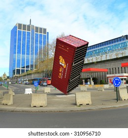 BRUSSELS, BELGIUM - April 17, 2015: Architecture of Brussels, Belgium. Brussels is the capital and largest city of Belgium and the capital of the European Union