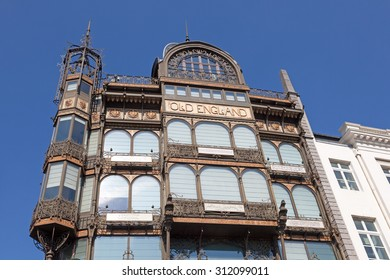 BRUSSELS, BELGIUM - AUG 22: Exterior of the MIM - Musical Instrument Museum in the city of Brussels. August 22, 2015 in Brussels, Belgium