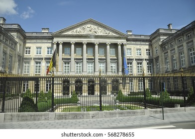 Brussels, BELGIUM - August 02, 2012: Building of the Office of the Prime Minister and the Belgian Federal Parliament in Brussels, Belgium
