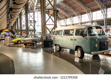 Brussels, Belgium - August 13, 2018. The old and classic vehicles shows at Autoworld Museum in brussels
