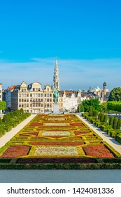 BRUSSELS, BELGIUM, AUGUST 4, 2018: Mont des Arts park in Brussels, Belgium