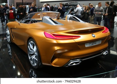 Brussels, Belgium - January 14 2018:  BMW Z4 concept car shown at 96th Brussels Motor Show exhibition.