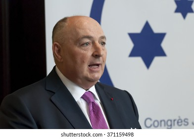 BRUSSELS, BELGIUM. January 26, 2016. Moshe Kantor, the president of The European Jewish Congress, re-elected for the forth time as the head of the sole organizational representative of European Jewry