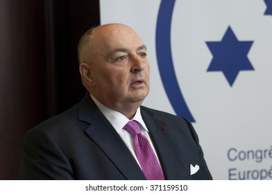 BRUSSELS, BELGIUM. January 26, 2016. Moshe Kantor, the president of The European Jewish Congress, re-elected for the 4th time as the head of the sole organizational representative of European Jewry