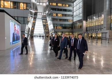 BRUSSELS, BELGIUM - Jul 12, 2018: Ukrainian President Petro Poroshenko during NATO military alliance summit in Brussels