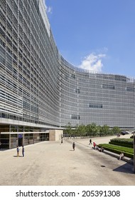 BRUSSELS, BELGIUM - JULY 16, 2014:The Berlaymont is an office building that houses the headquarters of the European Commission, which is the executive of the EU, on July 16 in Brussels