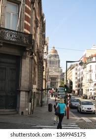 Brussels, Belgium - July 2014 : Historical center in sunny weather
